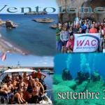Info WAC 17-2017: Rientro da Ventotene; Presentazione corsi Sub ed Apnea